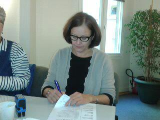 Signature de la convention par Laurence Danjou co-présidente de l'ANCIC